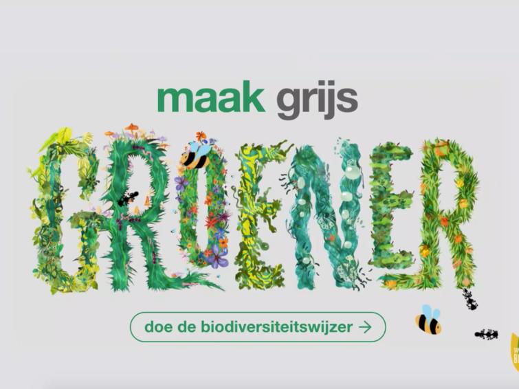 Doe de Biodiversiteitswijzer en maak grijs groener!